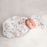Watercolor Floral Baby Girl Cocoon and Beanie Hat 2pc Set Jersey Stretch Knit Sleeping Bag for Infant Newborn Nursery Sleep Wrap Sack by Sweet Jojo Designs - Blush Pink, Grey and White Boho Shabby Chic Rose Flower