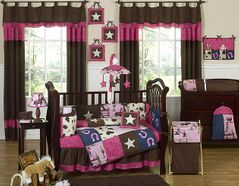 Western Horse Cowgirl Baby Bedding - 9 pc Crib Set