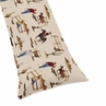Western Print Full Length Double Zippered Body Pillow Case Cover for Sweet Jojo Designs Wild West Sets