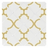 White and Gold Trellis Fabric Memory/Memo Photo Bulletin Board by Sweet Jojo Designs
