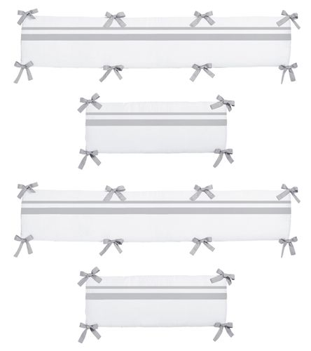 White and Gray Hotel Collection Crib Bumper by Sweet Jojo Designs - Click to enlarge