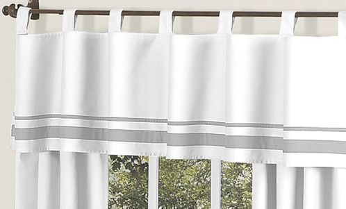 White and Gray Hotel�Modern Window Valance by Sweet Jojo Designs - Click to enlarge