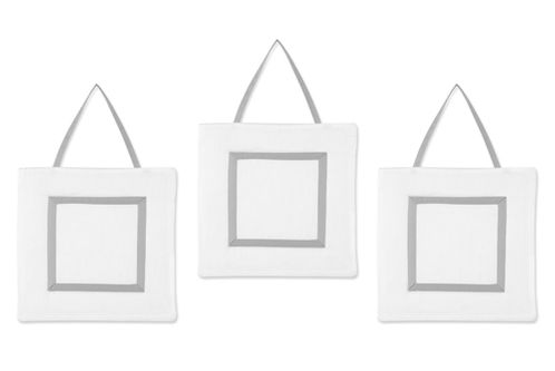 White and Gray Modern Hotel Wall Hanging Accessories by Sweet Jojo Designs - Click to enlarge