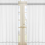 White and Gray Modern Hotel Window Treatment Panels by Sweet Jojo Designs - Set of 2