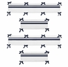 White and Navy Hotel Collection Crib Bumper by Sweet Jojo Designs