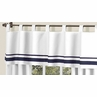 White and Navy Hotel�Modern Window Valance by Sweet Jojo Designs