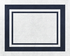 White and Navy Modern Hotel Accent Floor Rug by Sweet Jojo Designs