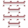 White and Red Hotel Collection Crib Bumper by Sweet Jojo Designs