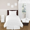White Diamond Jacquard Modern Childrens and Kids Bedding - 4pc Twin Set by Sweet Jojo Designs