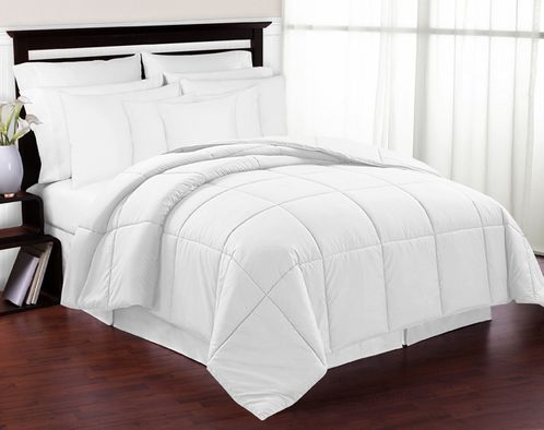 White Down-Alternative Comforter<br> Available in Twin Size - Click to enlarge