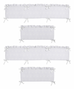 White Eyelet Collection Crib Bumper by Sweet Jojo Designs