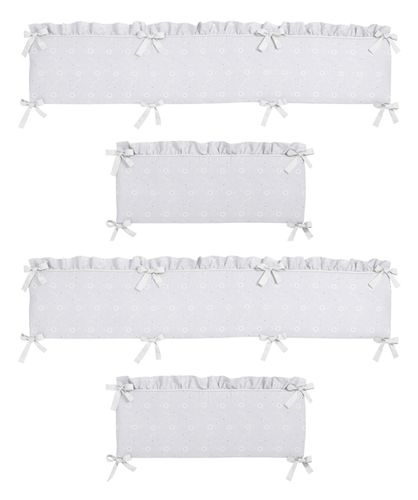 White Eyelet Collection Crib Bumper by Sweet Jojo Designs - Click to enlarge