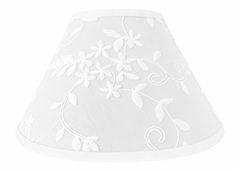 White Floral Vintage Lace Lamp Shade by Sweet Jojo Designs - Solid Luxurious Elegant Princess Boho Shabby Chic Luxury Glam Flower High End Boutique