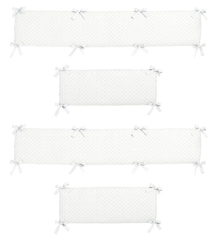 White Minky Dot Collection Crib Bumper by Sweet Jojo Designs - Click to enlarge