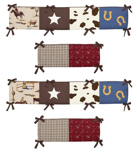 Wild West Collection Crib Bumper by Sweet Jojo Designs - Click to enlarge