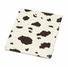 Wild West Cow Print Plush Fleece Baby Receiving Blanket by Sweet Jojo Designs