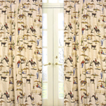 Wild West Cowboy and Horses Print Window Treatment Panels - Set of 2