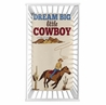 Wild West Cowboy Boy Fitted Crib Sheet Baby or Toddler Bed Nursery Photo Op by Sweet Jojo Designs - Red, Blue and Tan Western Southern Country Horse