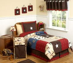 Wild West Cowboy Western Childrens Bedding - 4 pc Twin Set