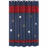 Wild West Cowboy Western Denim Kids Bathroom Fabric Bath Shower Curtain