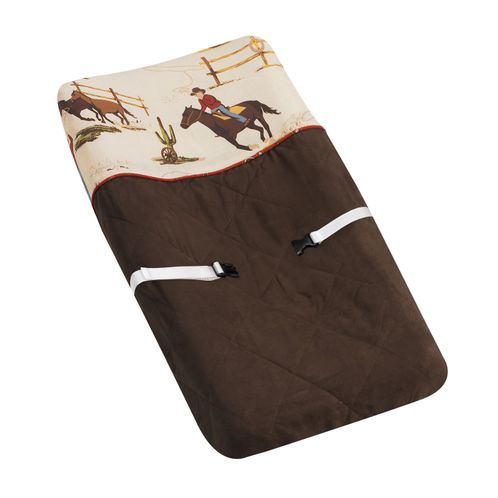 Wild West Cowboy Western Horse Baby Boys Changing Pad Cover by Sweet Jojo Designs - Click to enlarge