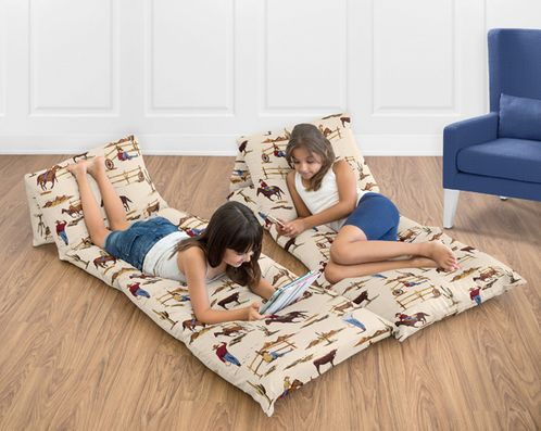 Wild West Cowboy Western Kids Teen Floor Pillow Case Lounger Cushion Cover by Sweet Jojo Designs - Click to enlarge