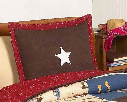 Wild West Cowboy Western Pillow Sham - Click to enlarge