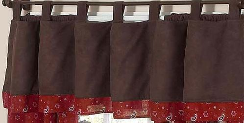 Wild West Cowboy Western Window Valance by Sweet Jojo Designs - Click to enlarge