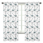 Window Treatment Panels Curtains for Bear Mountain Watercolor Collection by Sweet Jojo Designs - Set of 2