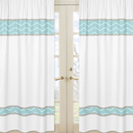 Window Treatment Panels for Balloon Buddies Collection  - Set of 2