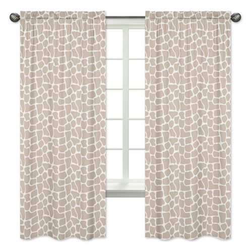 Window Treatment Panels for Giraffe Collection by Sweet Jojo Designs - Set of 2 - Click to enlarge