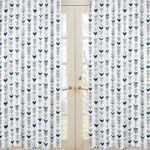 Window Treatment Panels for Grey, Navy Blue and Mint Woodland Arrow Collection by Sweet Jojo Designs - Set of 2
