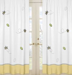 Window Treatment Panels for Honey Bee Collection - Set of 2