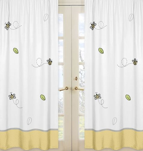 Window Treatment Panels for Honey Bee Collection - Set of 2 - Click to enlarge