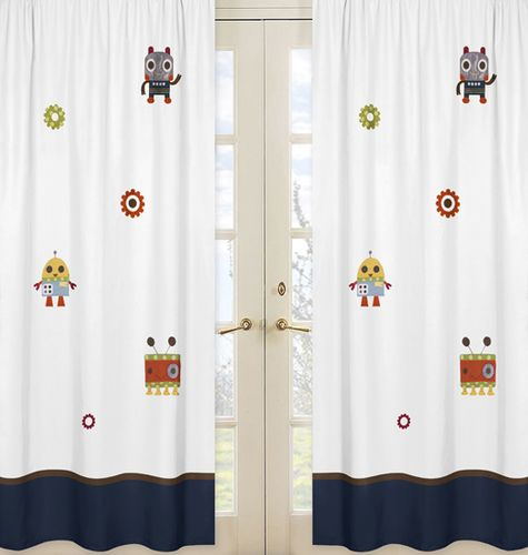 Window Treatment Panels for Modern Robot Collection - Set of 2 - Click to enlarge
