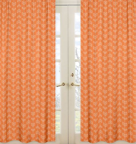 Window Treatment Panels for Orange and Navy Arrow Collection - Set of 2 - Click to enlarge