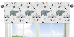 Window Treatment Valance for Bear Mountain Watercolor Collection by Sweet Jojo Designs