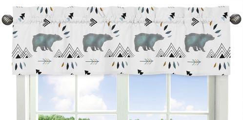 Window Treatment Valance for Bear Mountain Watercolor Collection by Sweet Jojo Designs - Click to enlarge