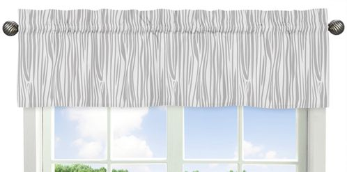 Window Valance for Coral, Mint and Grey Woodsy Collection by Sweet Jojo Designs - Click to enlarge