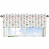 Window Valance for Grey, Coral and Mint Woodland Arrow�Collection by Sweet Jojo Designs