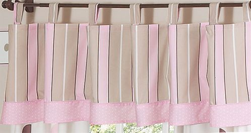 Window Valance for Pink and Brown Mod Dots Bedding Sets by Sweet Jojo Designs - Click to enlarge