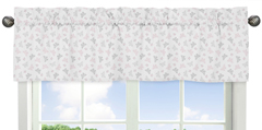 Window Valance for Pink and Gray Alexa Butterfly Collection by Sweet Jojo Designs