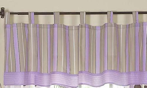 Window Valance for Purple and Brown Mod Dots Bedding Sets by Sweet Jojo Designs - Click to enlarge