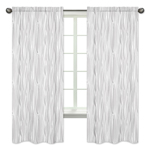 Wood Grain Window Treatment Panels for Grey and White Woodland Deer Collection - Set of 2
