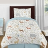 Woodland Animal Toile 4pc Twin Boy or Girl Bedding Set by Sweet Jojo Designs