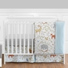 Woodland Animal Toile Baby Boy or Girl Bedding - 4pc Crib Set by Sweet Jojo Designs