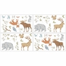 Woodland Animal Toile Peel and Stick Wall Decal Stickers Art Nursery Decor by Sweet Jojo Designs - Set of 4 Sheets