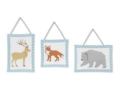 Woodland Animal Toile Wall Hanging Accessories by Sweet Jojo Designs