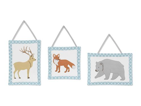 Woodland Animal Toile Wall Hanging Accessories by Sweet Jojo Designs - Click to enlarge