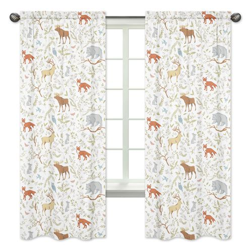 Woodland Animal Toile Window Treatment Panels by Sweet Jojo Designs - Set of 2 - Click to enlarge